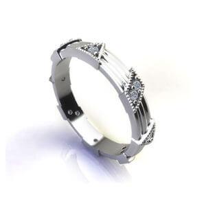 Confetti Diamond Wedding Ring