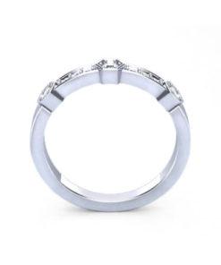 Hexagonal Diamond Wedding Ring