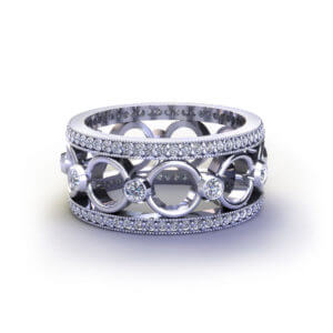 Diamond Circle Wedding Ring