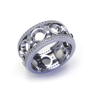 Diamond Circle Wedding Ring