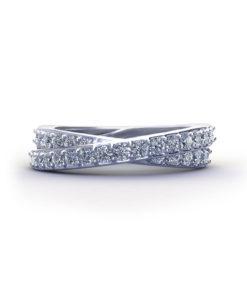 Crossover Diamond Wedding Ring