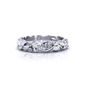 Diamond Rose Wedding Ring