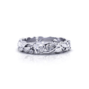 Diamond Rose Wedding Ring