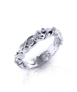 Diamond Rose Wedding Ring-angle