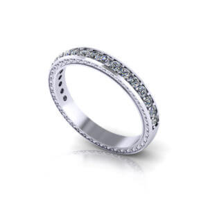 Etched Diamond Eternity Ring