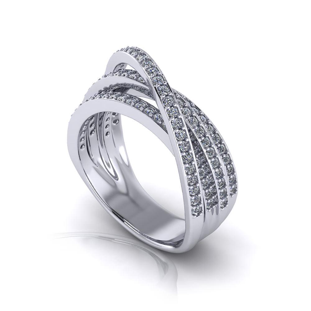 Diamond Crossover Eternity Ring