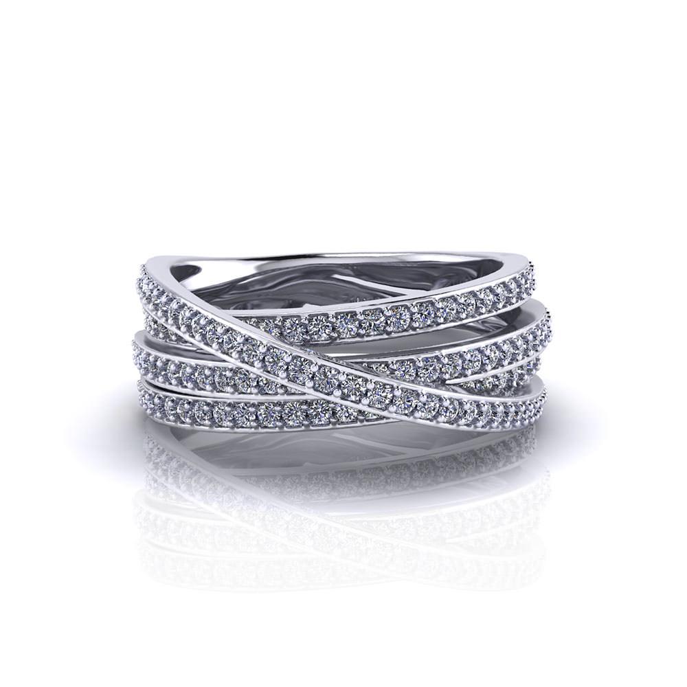 Crossover Diamond Ring