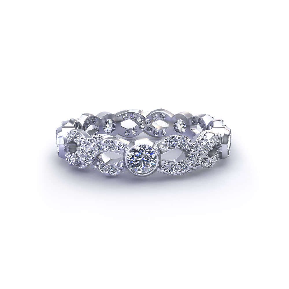Wd374 Diamond Infinity Wedding Ring