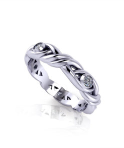 Diamond Crossover Wedding Ring