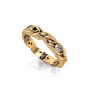 Diamond Crossover Wedding Ring-ht1