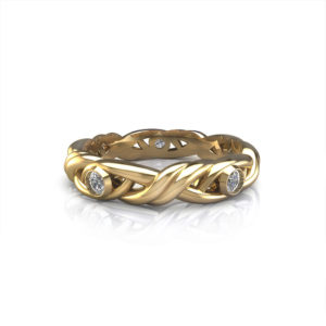 Diamond Crossover Wedding Ring-ht2