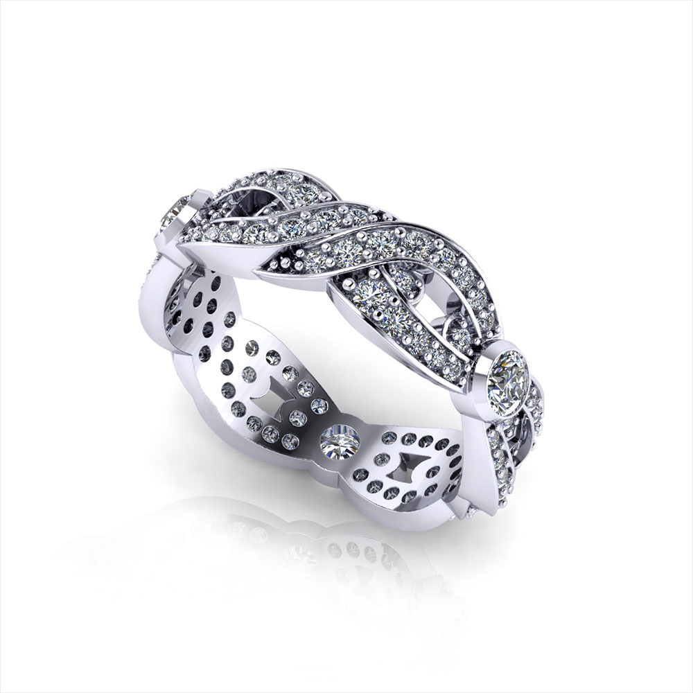 Woven diamond wedding ring jewelry designs for Woven wedding ring
