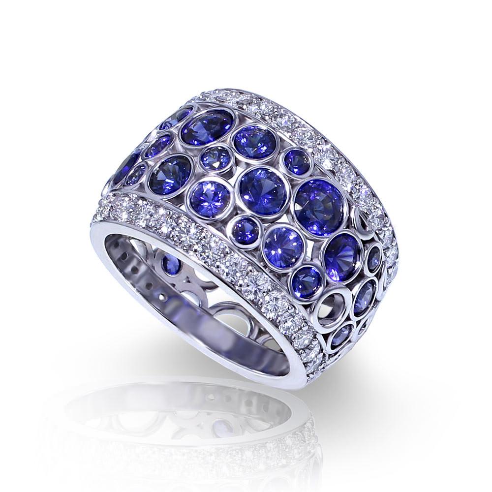 Bubble Sapphire Band Jewelry Designs