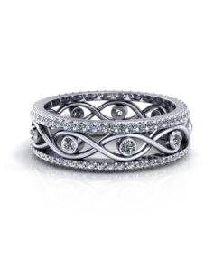 Infinity Eternity Wedding Ring