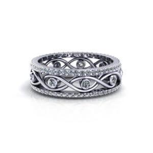 Infinity Eternity Wedding Ring