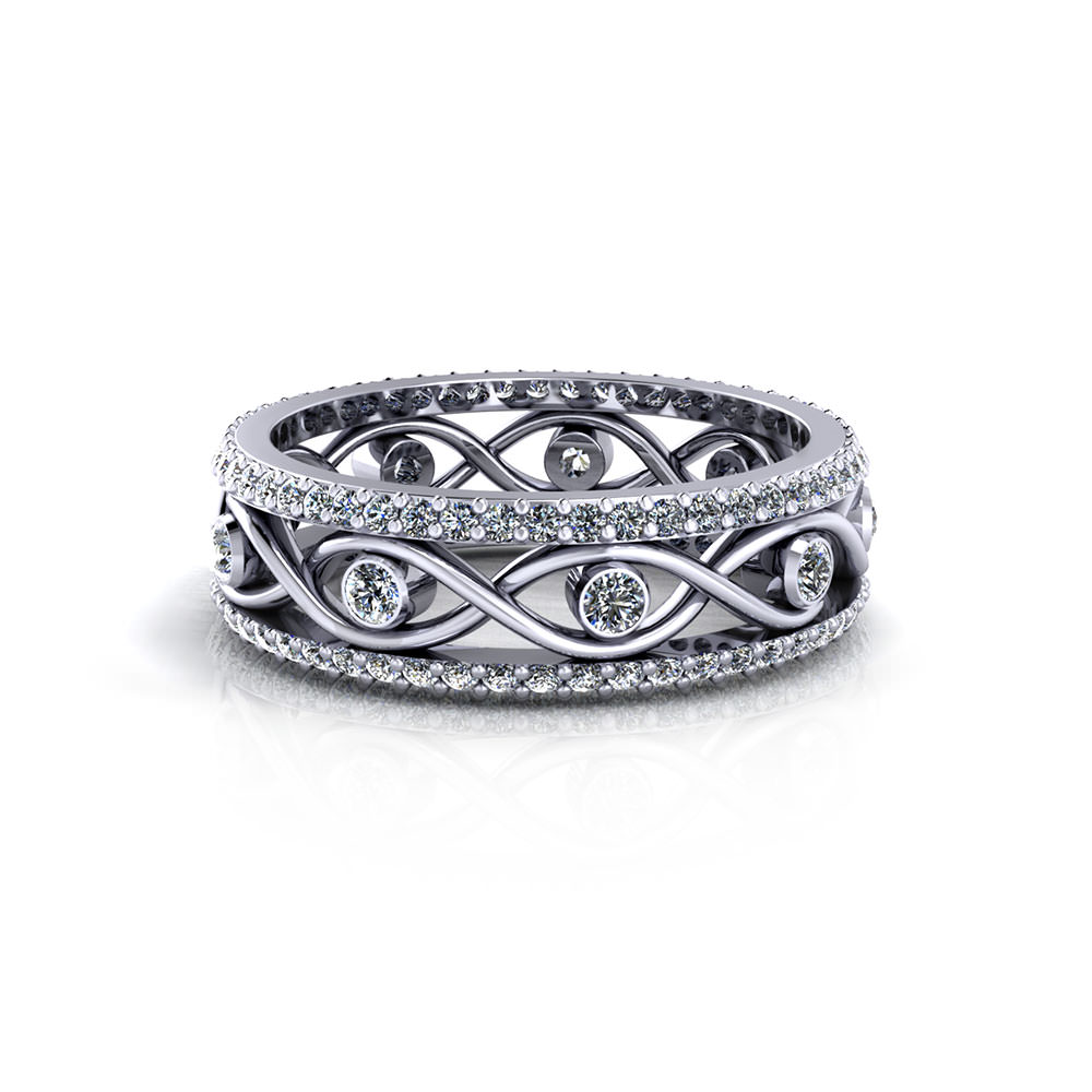 Infinity eternity wedding ring jewelry designs for Infinity design wedding ring