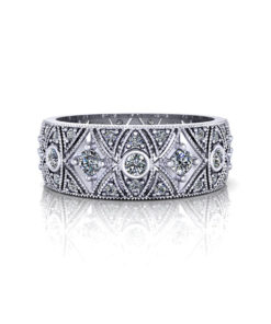 Millgrain Diamond Wedding Band