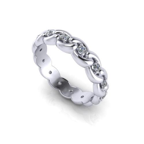 Linked Diamond Eternity Ring