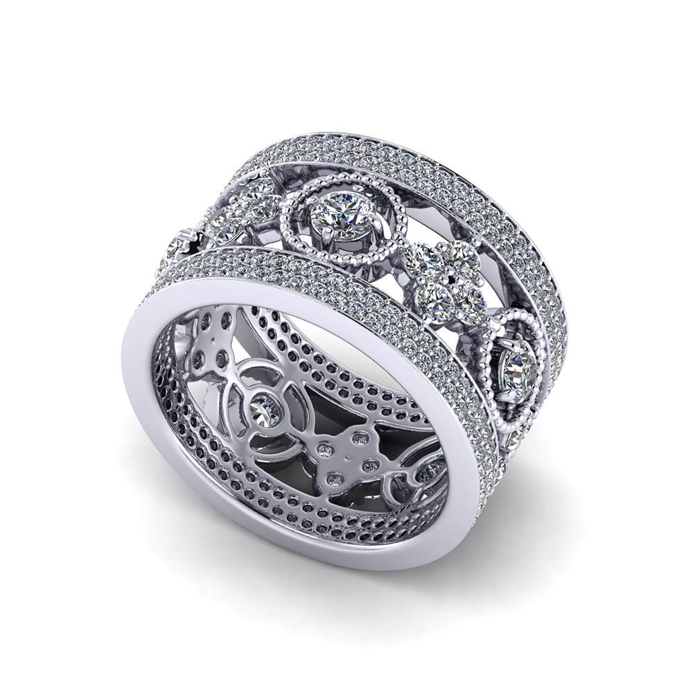 Wide Diamond Eternity Band Jewelry Designs