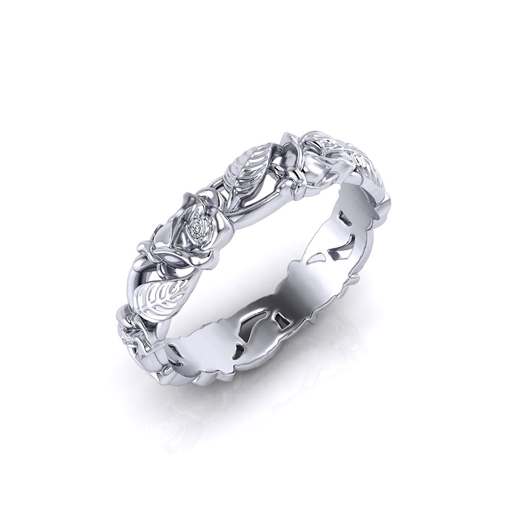 Rose Wedding Ring Jewelry Designs