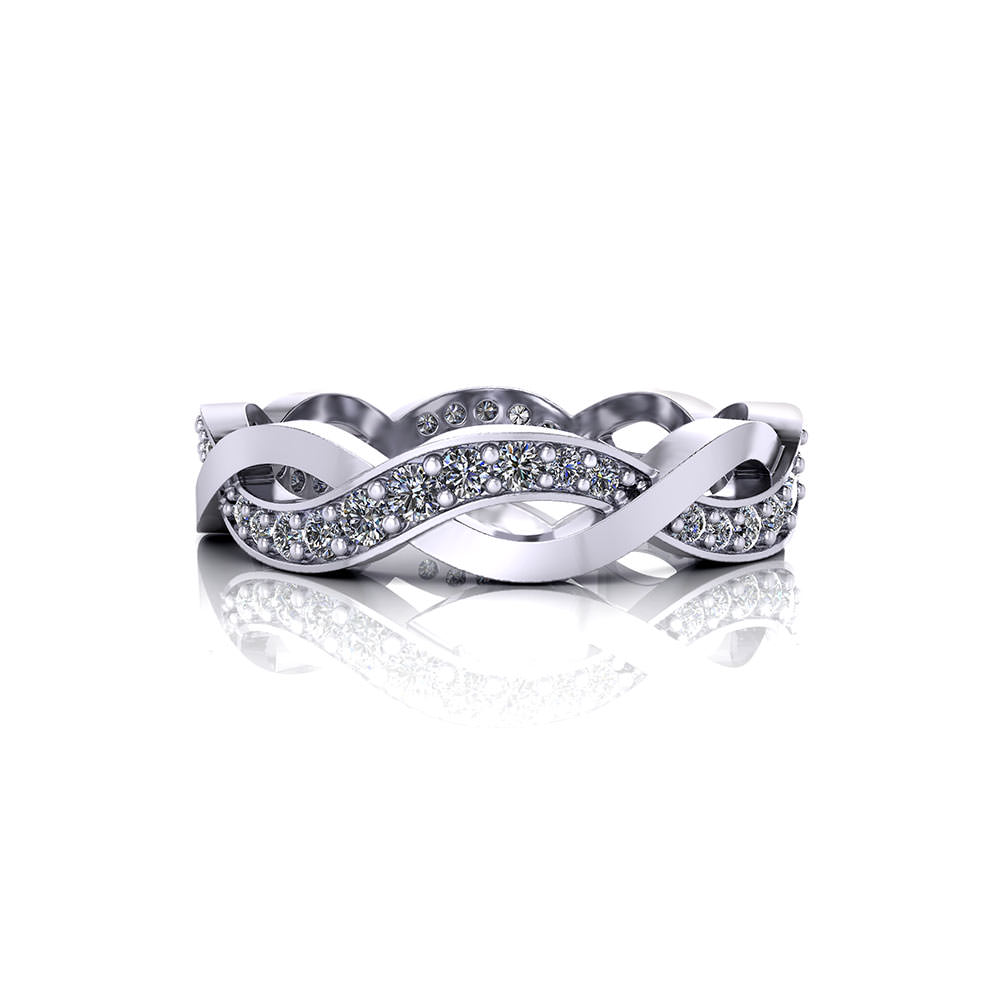 Woven Diamond Eternity Band