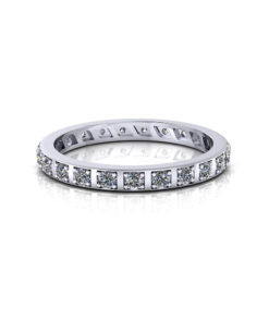 Diamond Station Eternity Ring