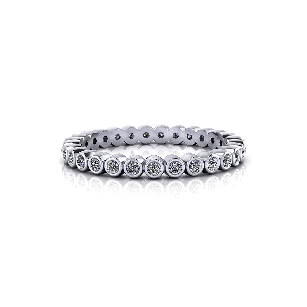 Simple Bezel Eternity Band