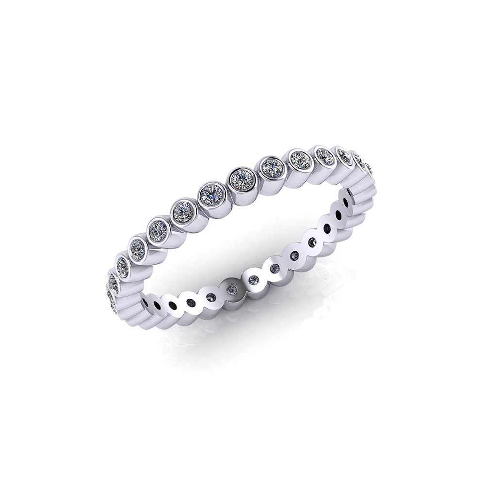 bands ring simple s women wedding zirconia infinity sterling engagement band cubic round cut silver
