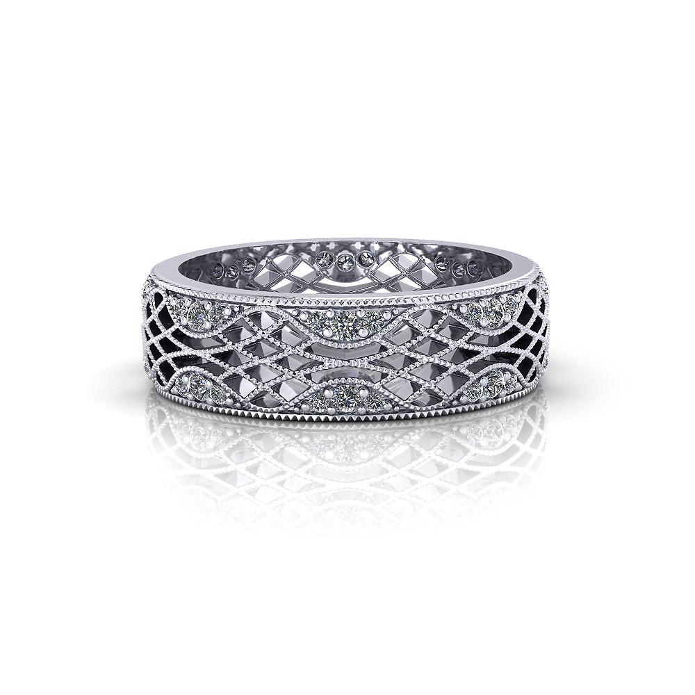 Lattice Wedding Ring | Jewelry Designs