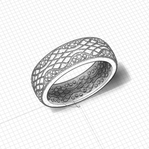 Lattice Wedding Ring