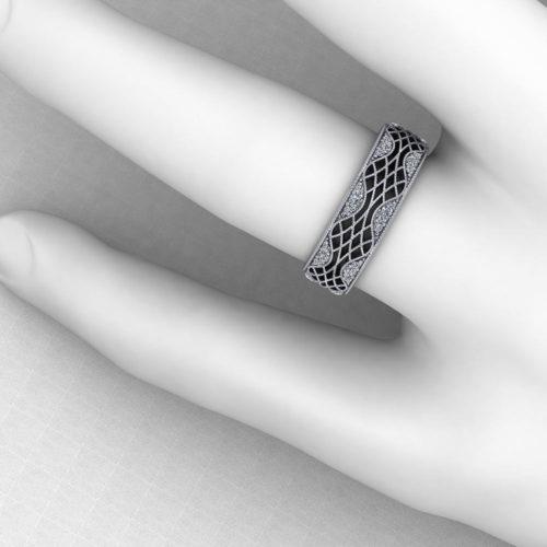 Lattice Wedding Ring