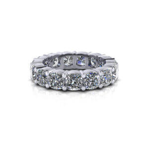 Cushion Diamond Eternity Ring