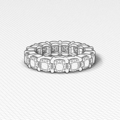 Cushion Diamond Eternity Ring