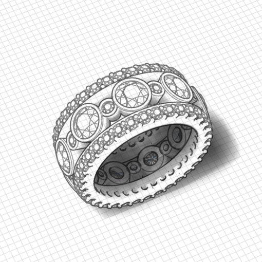 Diamond Bezel Eternity Ring