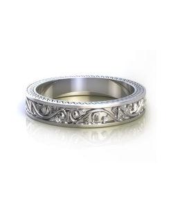Floral Vine Wedding Ring