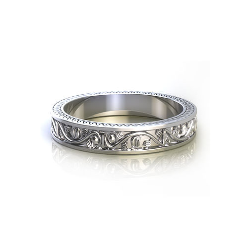 Floral Vine Wedding Ring