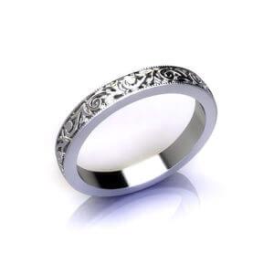 Victorian Pattern Wedding Ring