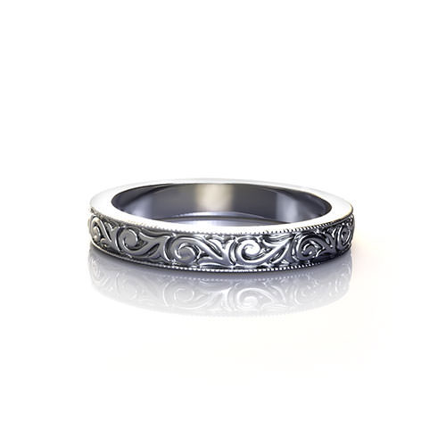 Victorian Pattern Wedding Ring