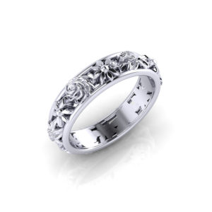 Ladies Floral Wedding Ring