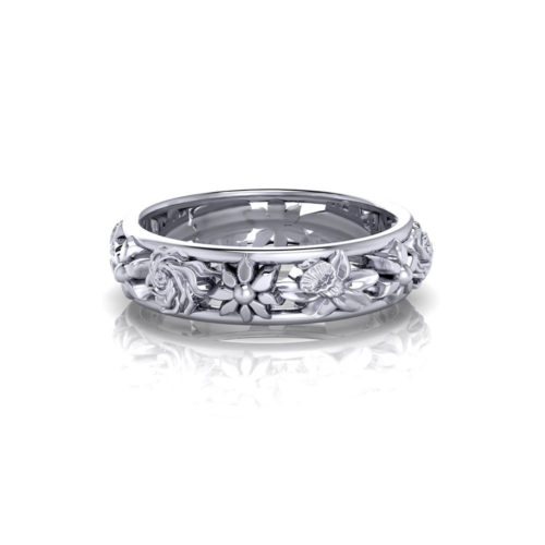 Ladies Floral Wedding Ring
