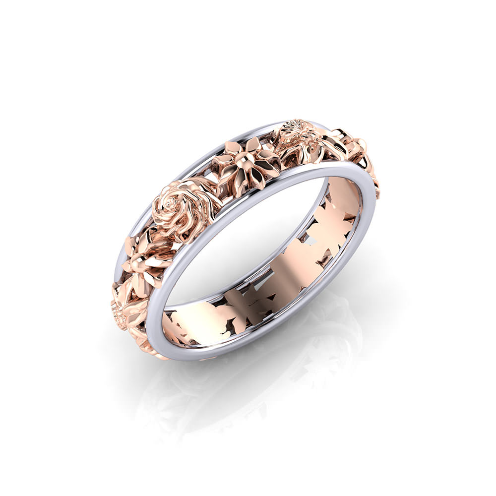 Ladies Floral Wedding Ring Jewelry Designs