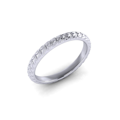 Thin Petal Wedding Ring