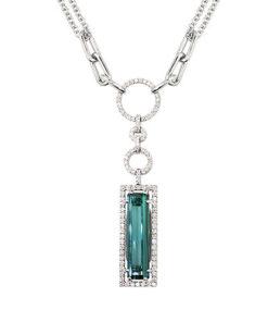 YC238-1 Tourmaline Diamond Necklaces