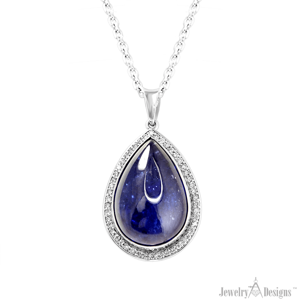 YC249-1 Pear Shape Tanzanite Necklace