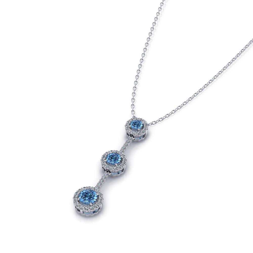 Aquamarine Tassel Necklace