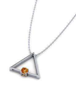 Triangular Citrine Slide Necklace