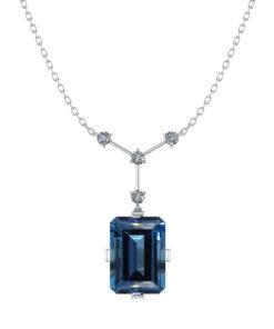 Blue Topaz Y Necklace
