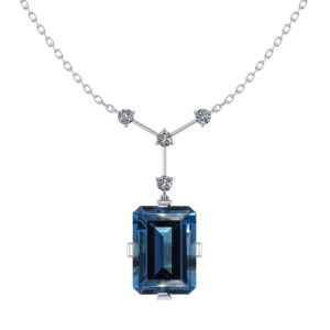 Blue Topaz Y Necklace