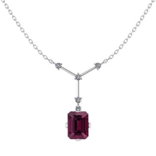 Rhodolite Garnet Y Necklace
