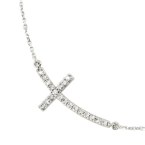 Sideways Cross Necklace Jewelry Designs